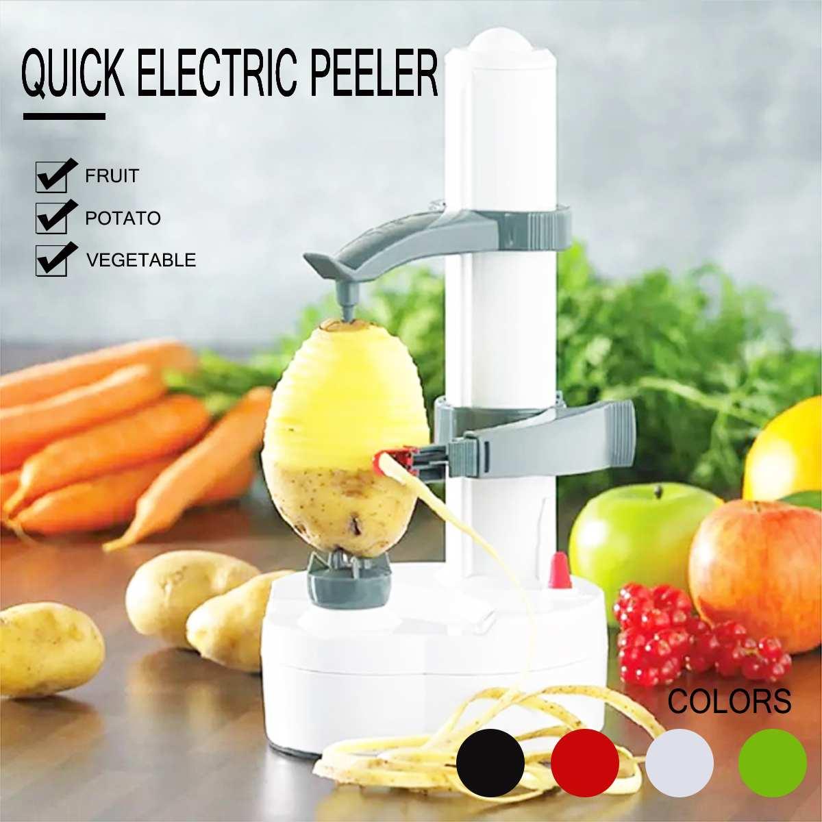 Electric Automatic Rotating Vegetable Potato Fruit Orange Peeler Cutter UK