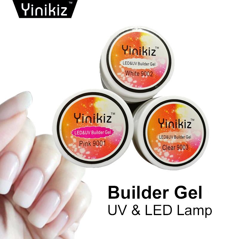 Yinikiz Crystal Nails Transparent Color Strong Solid Color ...