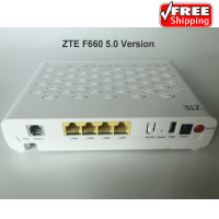 Free Shipping ZTE F660 V5 GPON ONU SC UPC With 4FE+1Tel+1USB+Wifi, English Version ZTE GPON Wifi ONU FTTH ONT Modem