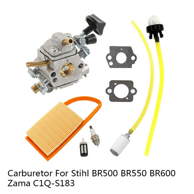 Carburetor Parts Air Filter Spark Plug Gaskets For Stihl BR500 BR550 BR600 Backpack Blower Zama C1Q-S183 CarbCarburetor Parts Air Filter Spark Plug Gaskets For Stihl BR500 BR550 BR600 Backpack Blower Zama C1Q-S183 Carb