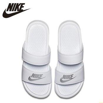 df243cf9 NIKE BENASSI Duo ультра Новое поступление Женская прогулочная обувь модные  воздухопроницаемые тапочки #819717