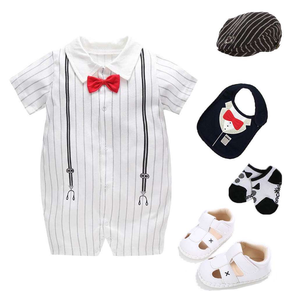 1pc baby kids boys cotton jumpers birthday bodysuit  party wedding Tuxedo