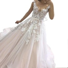 Sexy A-Line Lace Wedding Dress 2019 Romantic Bride Dresse