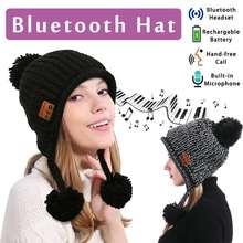 68add5ce332 Outdoor Winter Wireless bluetooth Headset Hat for Woman bluetooth V4.2 Cap  Headphone Warm Hats