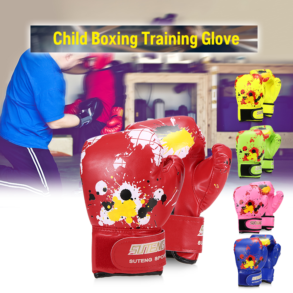 Child Boxing Gloves Kids Training Fighting for Boy /Girls Strike Safety Map