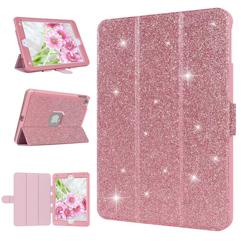 Luxury Case For Ipad 5 6 7 8 Cover leather Glitter Bling 3 in 1 Shockproof Protective Cover For Ipad 9.7 2017 2018 2016 CaseLuxury Case For Ipad 5 6 7 8 Cover leather Glitter Bling 3 in 1 Shockproof Protective Cover For Ipad 9.7 2017 2018 2016 Case