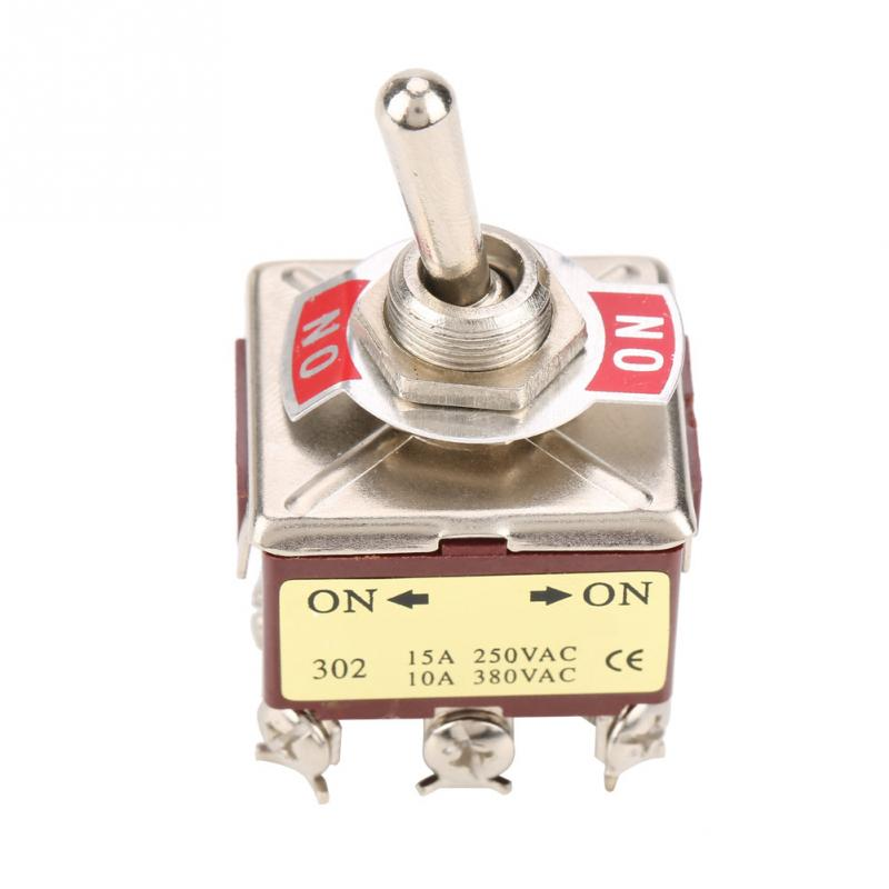 On-on 2 Position Toggle Switch 3pdt 9 Pin 12mm 15a/250vac 10a/380vac Interruptor Toggle Switch Lighting Accessories Switches