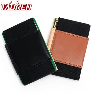 Creative Credit Card Holder With Elastic Band Slim Wallet For Women Man Small Magic Business Card Holder Case Unisex