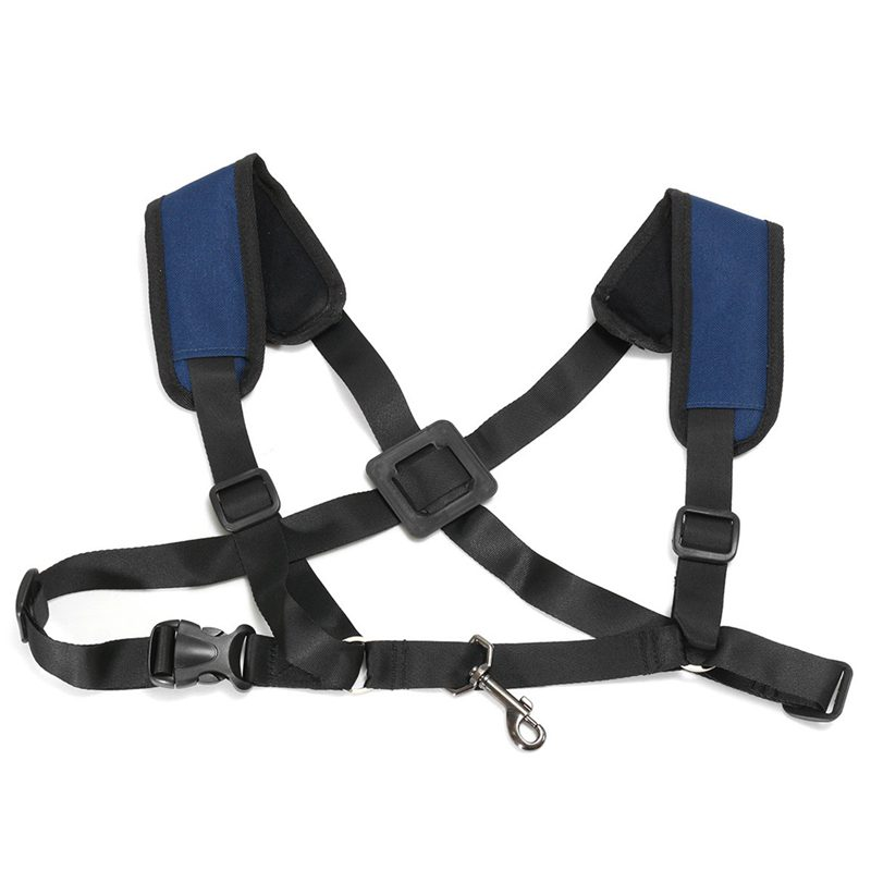 ABGZ-Adjustable Soft Sax Harness Shoulder Pad Strap Saxophone For Alto