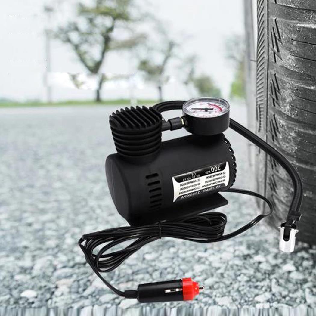 Portable Car Electric Air Pump Compressor 25L/Min 50cm/19.69inch No Load 4A, Load 6A Tire Inflator DC12V