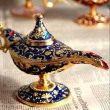 Ретро металл резьба Лампа Алладина статуя Алюминий сплав коллекция украшений для дома Сохранить коллекция художественных промыслов подарок