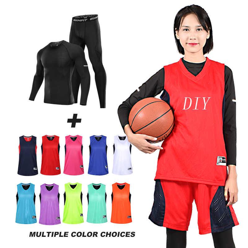 4092c633587d8 ... Baloncesto de compresión de trajes de ropa deportiva corriendo medias  las mujeres Jogging polainas gimnasio Ropa ...