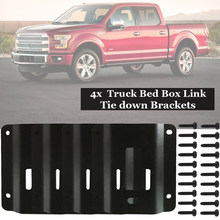 4 Sets Bed Tie Down Reinforcement PLATES For 2015-2018 Ford F150 F250 F350 Black(China)
