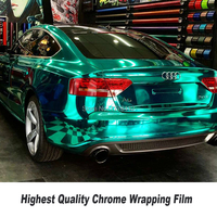 Несколько цветов растягивающаяся хромированная зеркальная винил обёрточная бумага с пузырьков воздуха автомобиля фольга Chrome s плёнки High end