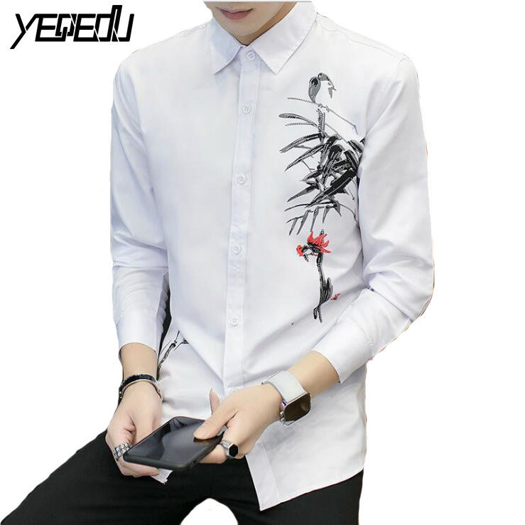 #2312 Günstige Kleidung China 3d Drucken Mens Dress Shirts Camisa Hombre Slim Fit Langarm Kleid Shirt Camisa Sozialen Chemise Homme