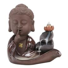 Buddha Hand Backflow Incense Burner Smoke Waterfall Holder Ceramic Aromatherapy Censer Decor Meditation