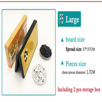 361pcs/Set Go Game Weiqi Waterproof Bamboo Magnetic Board Bamboo Ware Board With Clear Lines And Smooth Surface