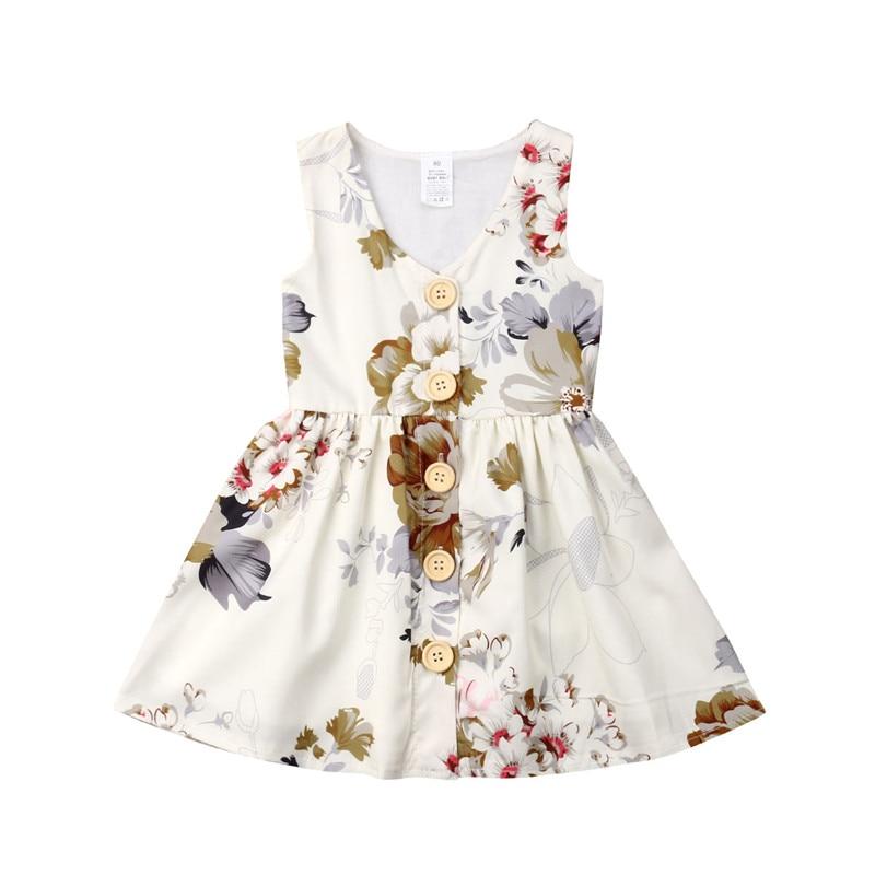 Newborn Infant Baby Girl Cotton Romper Sleeveless Jumpsuit Clothes Set Sunsuit