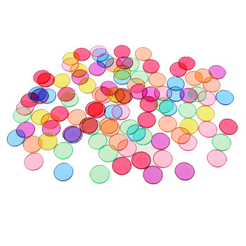 100 Pieces chips disc Colorful Metal Edge Plastic Round Chips for Scientific Magnetic Experimental Good accessory for combo 1