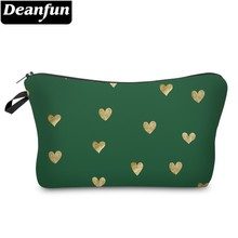 Deanfun Fashion Printing Cute Heart Waterproof Cosmetic Bag Durable Travel Makeup Bags Gift Ladies  51351 #