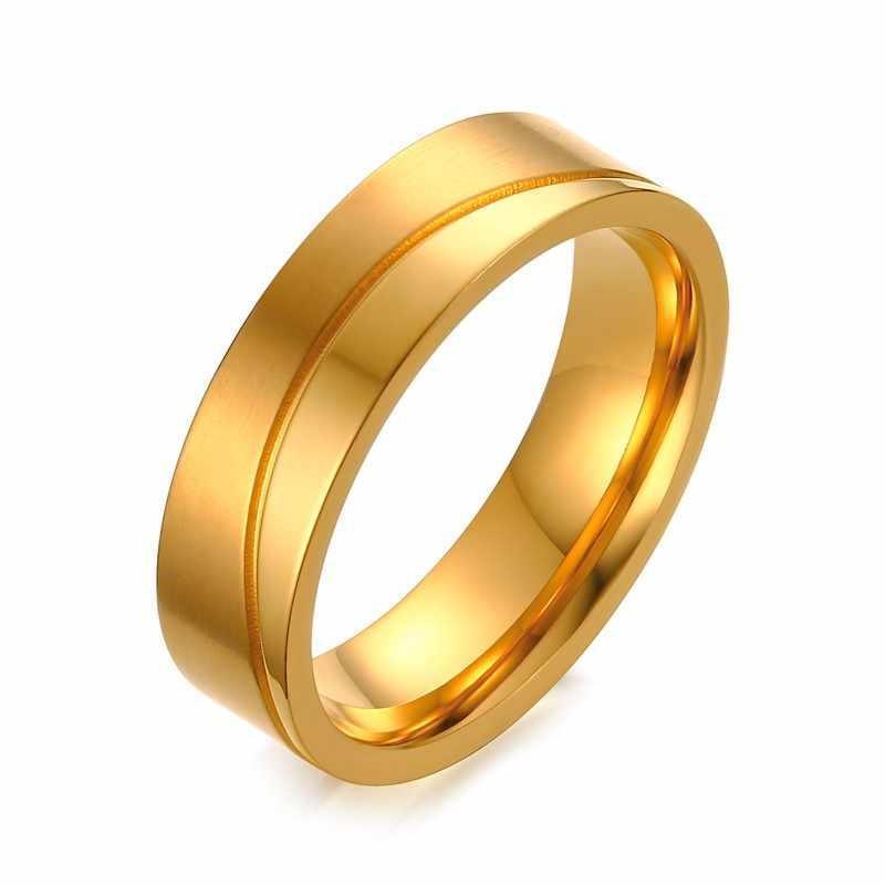 e0ef69d82 Gold-color Wedding Ring for Women Men CZ Stone Anel De Compromisso Alianca  De