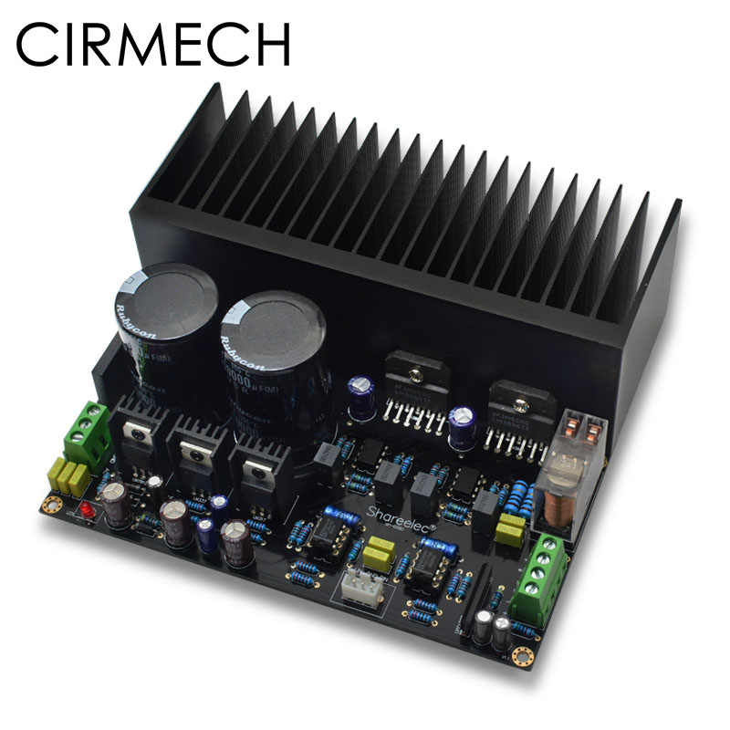 CIRMECH LM3886 Stereo high power amplifier board OP07 DC servo 5534 independent operational amplifier Shen Jin PCB KIT