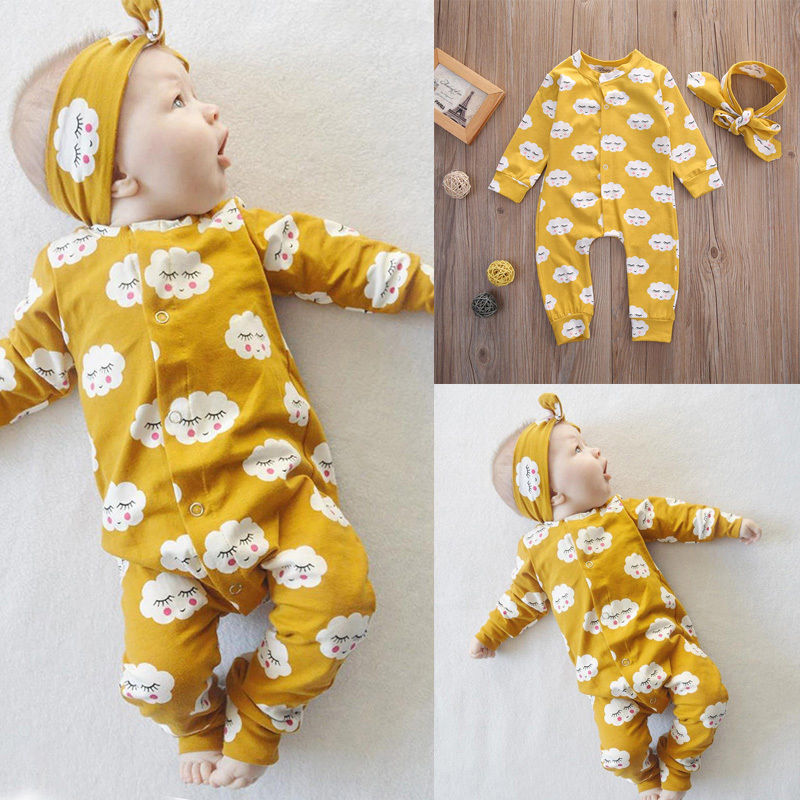 Pudcoco Girl Clothes Newborn Infant Baby Kids Girls Clothes Jumpsuit   Romper   Outfits Set
