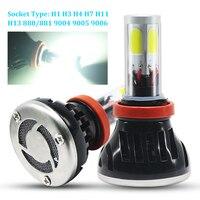 1pair H4 H7 LED Car Headlight Bulbs 880 881 H1 H3 H11 9005 9006 9012 Single H13 9004 9007 Hi Lo Beam COB Chip LED Auto Headlight
