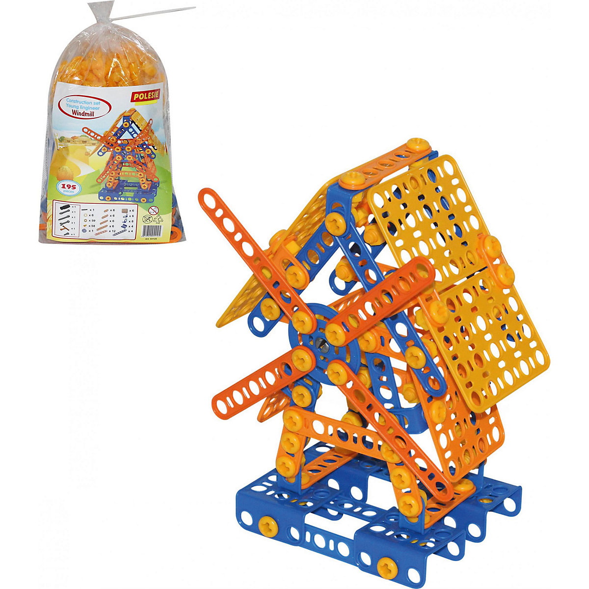Polesie Screwing Blocks 6760729 educational toys for children Building Construction Toy baby games блуза mango mango ma002ewbqye5