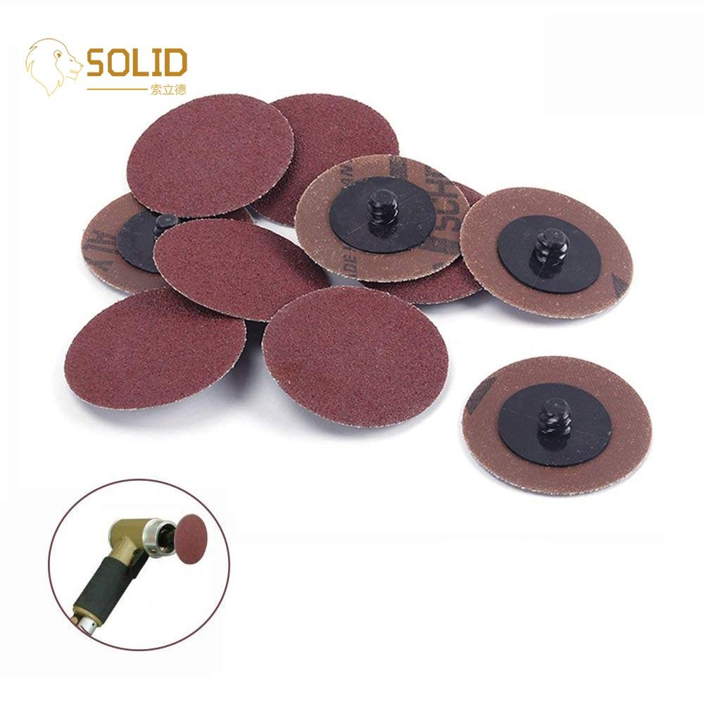 "10Pcs/50Pcs 3""75mm 24~320 Grit Type R Roloc Quick Change Discs Sanding Polishing Abrasive Tools For Metalworking Angle Grinder"