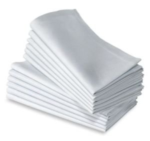 50PC 100 COTTON RESTAURANT DINNER CLOTH LINEN WHITE 50x50cm PREMIUM HOTEL NEW NAPKINS