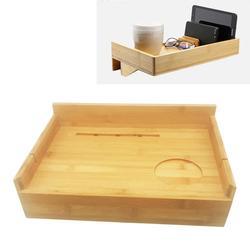 Płytki talerz wielofunkcyjny bambusowy stojak do przechowywania elastyczny stolik nocny do przechowywania wina/książki/żywności/zupy