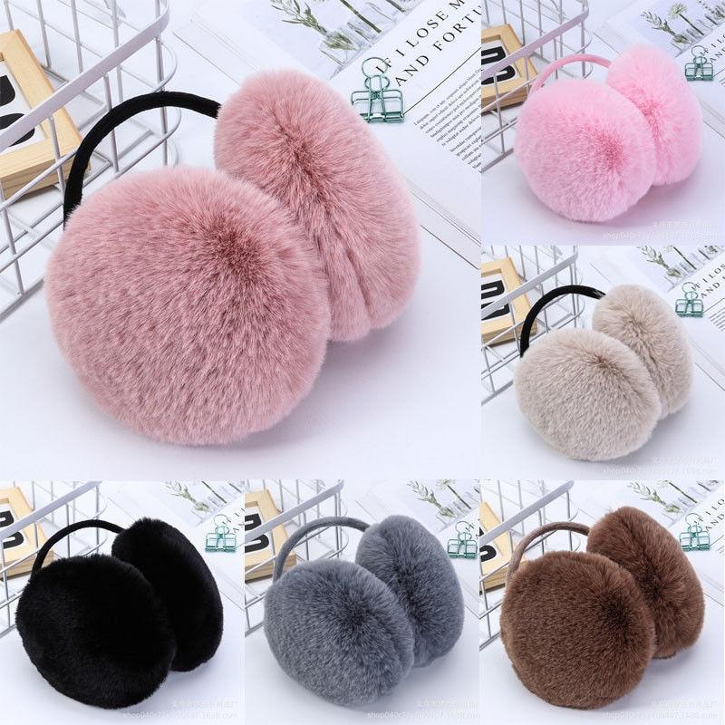 Women Men Fur Round Earmuffs Unisex Girl Winter Warm Earwarmers Hairy Ear Muffs Earflap 2019 Newest Soft Lovely Christmas Gifts