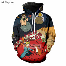 Le Petit Prince and Wolf 3D Print Hoodies Men/Women Hiphop Streetwear Jacket Boys Hipster Colorful Outfits Clothing Harajuku 5XL