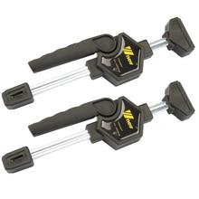 Abrazadera de barra de trabajo de madera de apriete rápido de liberación rápida de trinquete Kit de Clip esparcidor Gadget herramienta de mano Diy