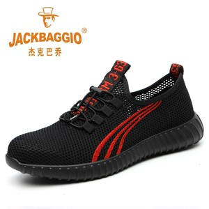 Image 1 - Steel head mesh mens safety shoes, lightweight and breathable mens work shoes, non slip wearable mens boots rubber sole