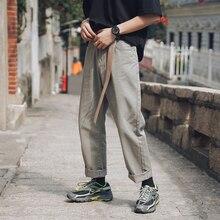 2019 trousers Men Fashion Trend Of Leisure Casual cargo Pants Cotton Harem Apricot Color joggers Hot Sale