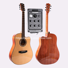 Finaly Professional 41 Full Solid Electric Acoustic Guitar,With Spruce Top/Solid Mahogany Body,With Hard case,FG-20CE