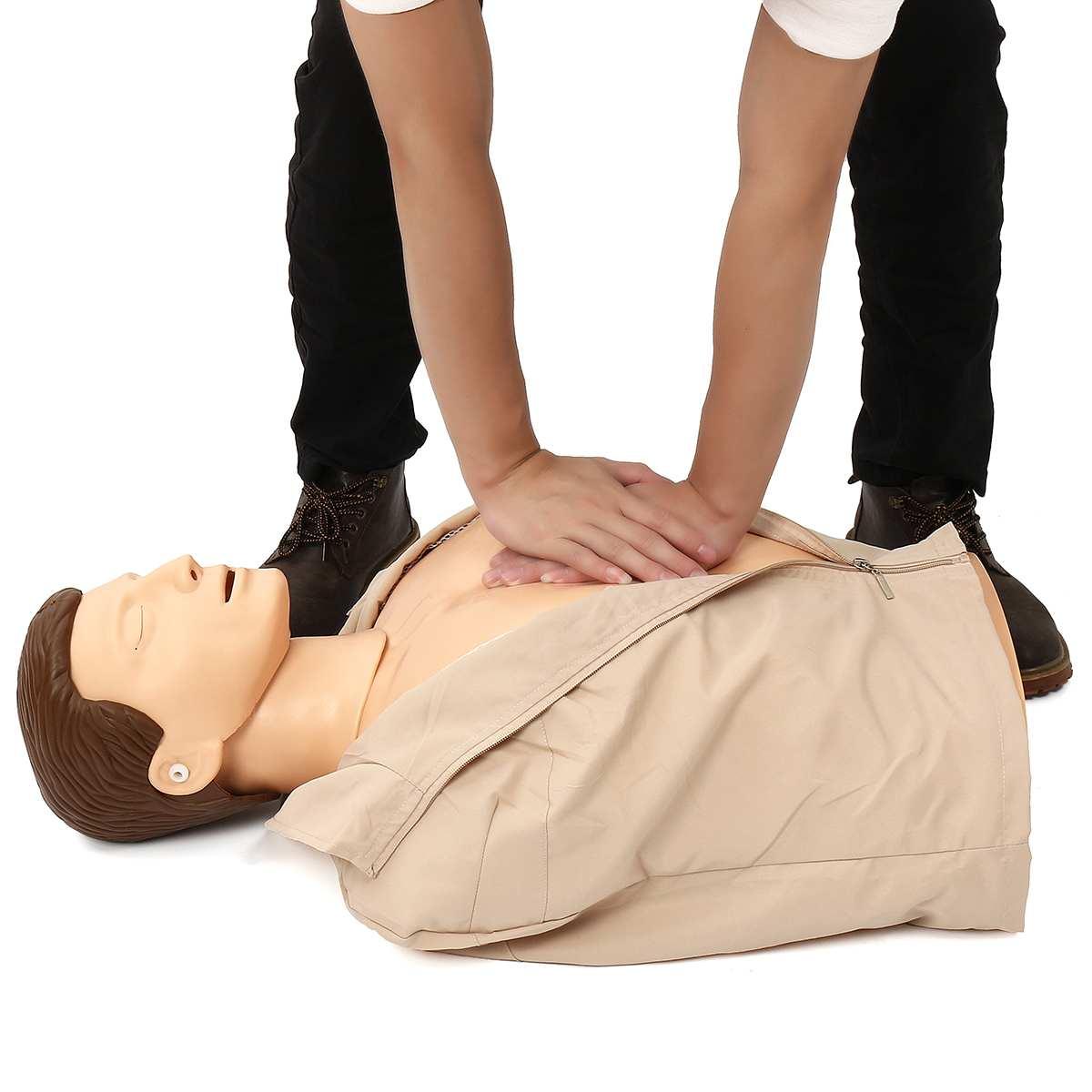 Mannequin de formation en rcr 70x22x34 cm buste Mannequin de formation en soins infirmiers professionnels modèle médical modèle de formation en premiers soins humains nouveau - 2