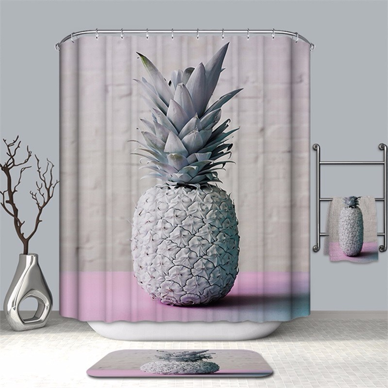 Image 5 - VOZRO Bathroom Shower Curtain Quality Natural Waterproof Polyester 2 M Cloth 3D Totem Simple Douchegordijn Bape Splatoon Cortina-in Shower Curtains from Home & Garden