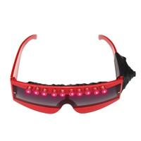 LED Laser Red Light DJ Glasses Nightclub Party Stage Dance Eyeglass Glow Party Supplies Wedding Decoration Favor Halloween