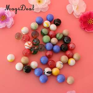 Home-Decor Vase-Filler Game Glass Marbles Colorful 16mm Kids Toy Run 45PCS Accs Fish-Tank