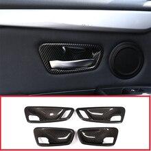 Für BMW 2 Serie Gran Tourer F45 F46 218i 2014-2018 Auto Zubehör 4 Pcs Carbon Fiber ABS Innen tür Schüssel Abdeckung Trim
