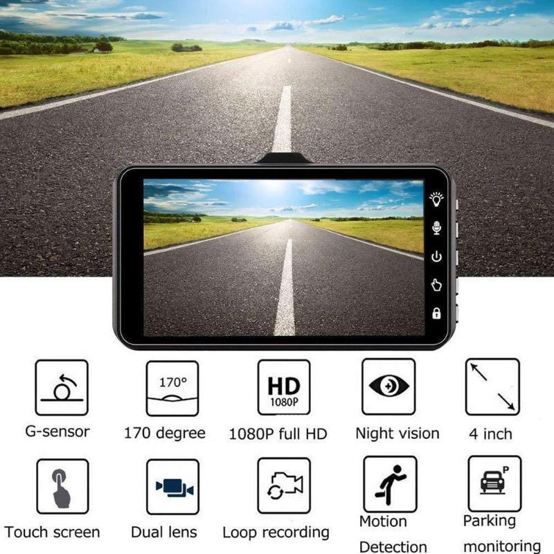 Car DVR 4 0 inch IPS Touch Screen Portable Car DVR Dash Cam 1080P HD 170