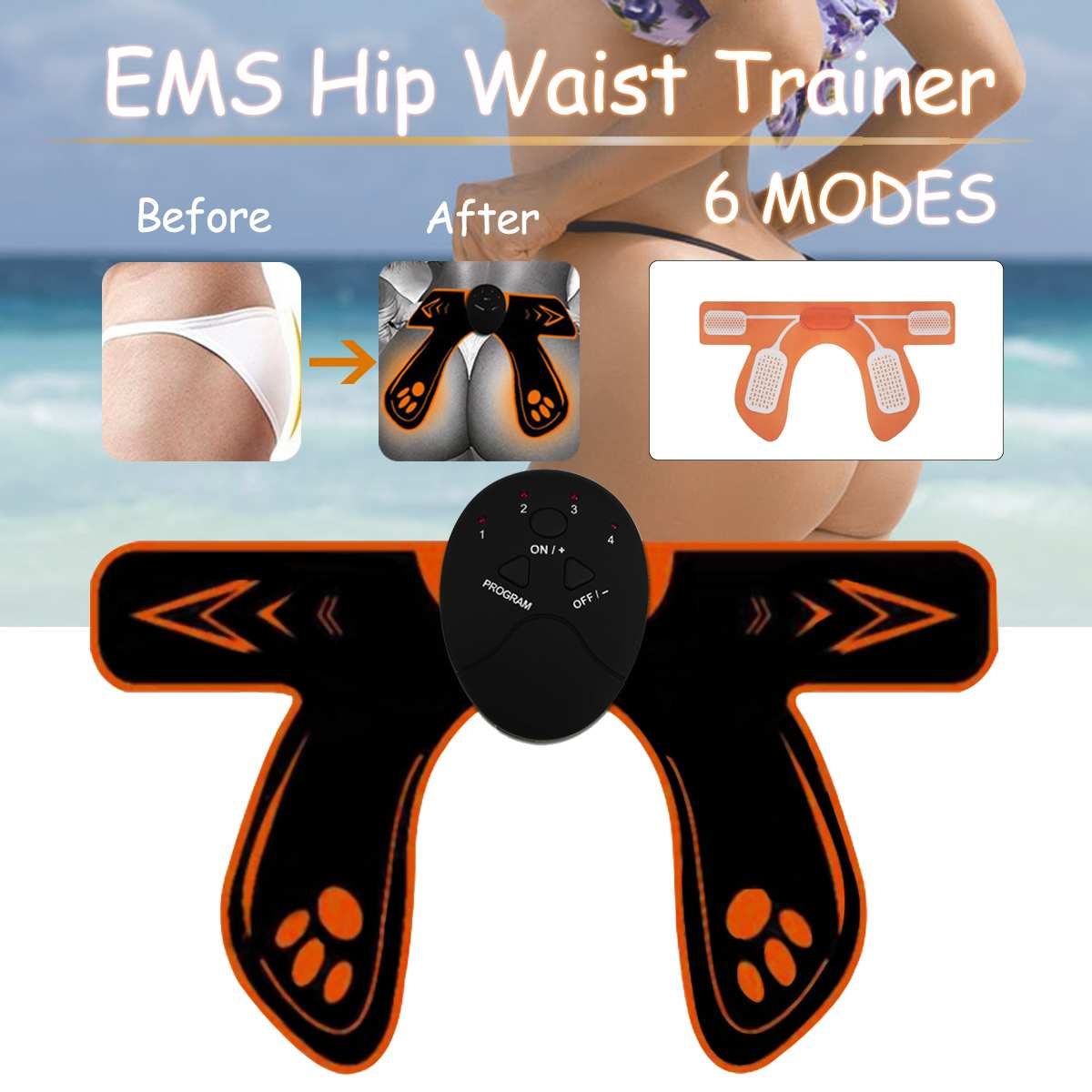 2019 NEW EMS Smart Household Hip Trainer Ass Builder Buttock Tighter Lifter Massager Electric Vibration Muscle Stimulator