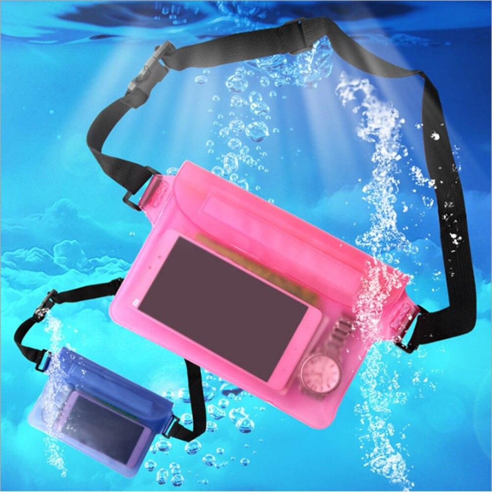 2019 Neue Mode Wasserdichte Unterwäsche Taille Tasche Lustige Pack Sommer Strand Dry Pouch Telefon Taille Taschen Pvc Gürtel Taille Pack Erfrischung