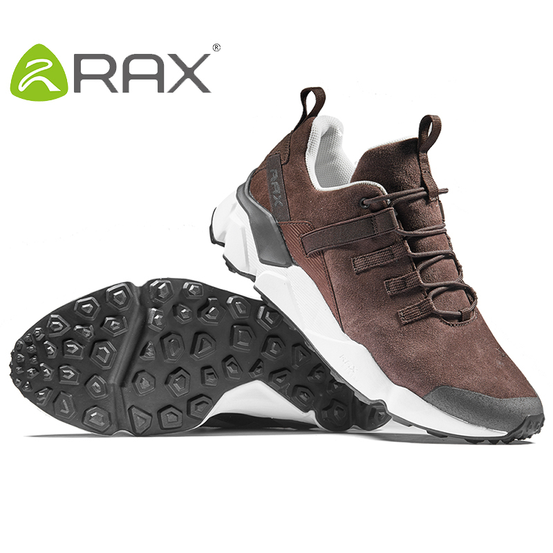 RAX 2017 New Men's Suede Leather Waterproof Cushioning Hiking Shoes Breathable Outdoor Trekking Backpacking Travel Shoes For Men 3