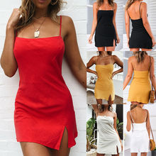 Women Sleeveless Mini Nightdress Nightgown Sleepwear Sexy Lingerie Short Bodycon Sundress Summer Beach Clothes