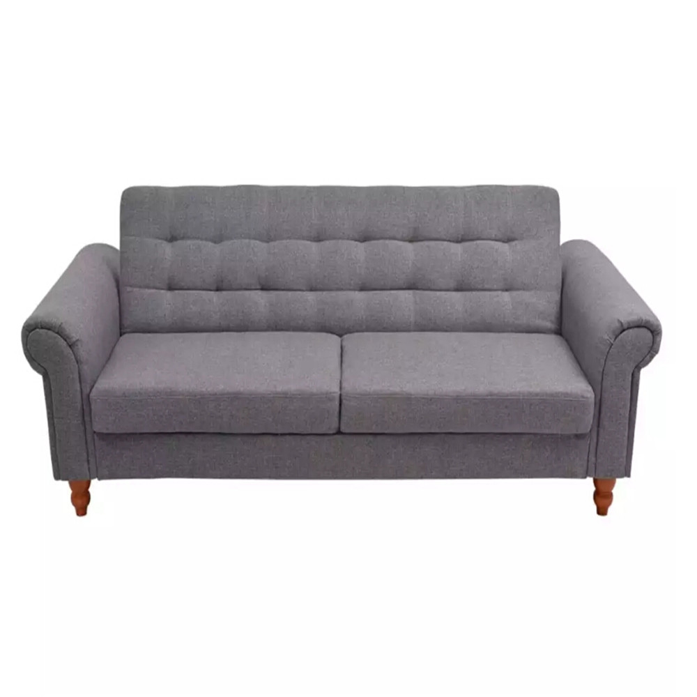 VidaXL Gray Color Sofa Bed Adjustablle Backrest Cozy Seat Elegant And Timeless Living Room Bed Room Sofas Home Decor 243924