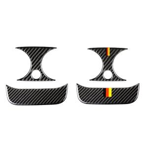 Image 1 - Para Mercedes Benz Clase C W205 C180 C200 C300 GLC de fibra de carbono compartimento central para coche para aire acondicionado trasero aire cubierta de salida de ventilación
